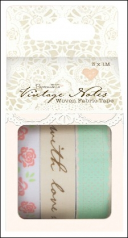 Vintage Notes - Woven Fabric Tape