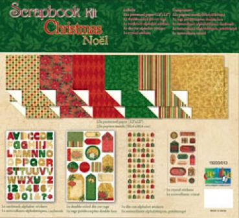 bastelstube michaelis scrapbook kit weihnachten 2. Black Bedroom Furniture Sets. Home Design Ideas