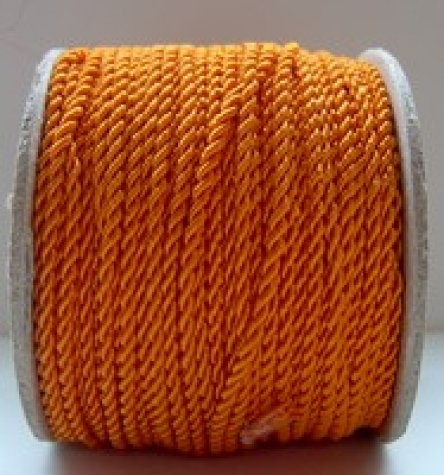 Kordel - orange  <br> 2 mm - 1 Meter