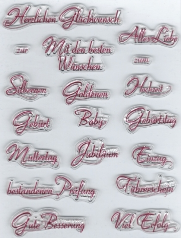 Silikon Stempel - Viva Decor - Text I