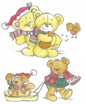 Clear Stamp - Beary Sweet - Winter