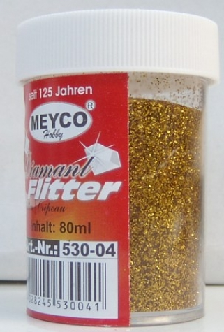 Diamant Flitter in Streudose, 40g - gold