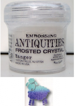 Ranger Antiquities Embossing Pulver - frosted crystal