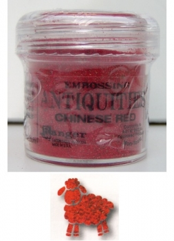Ranger Antiquities Embossing Pulver - chinese red