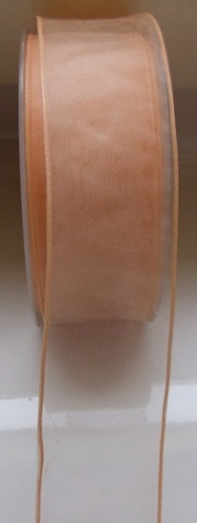 Organza - apricot  <br> 40 mm - 1 Meter