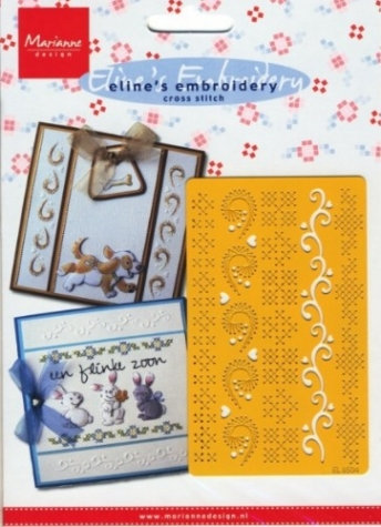 Schablone Eline's Embroidery cross stitch EL8504