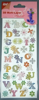 3D Multi-Layer Sticker  <br> 6013-0253 - Alphabet Nr.3