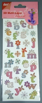 3D Multi-Layer Sticker  <br> 6013-0254 - Alphabet Nr.4