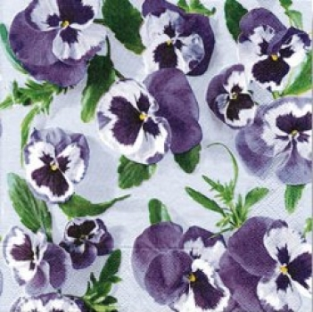 Serviette Sea of Pansies