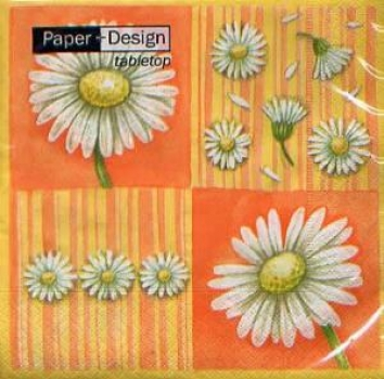 Serviette Daieses in bloom, orange