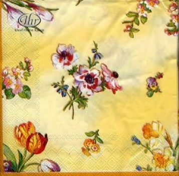 Serviette Floral Poetry - yellow