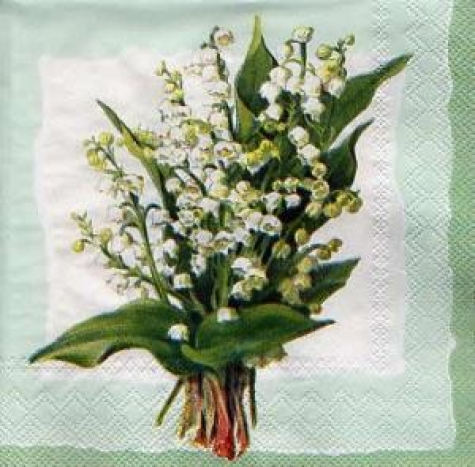 Serviette Lily of the valley - mint pearl
