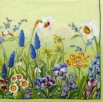 Serviette Spring Meadow green