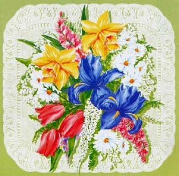 Serviette Spring Flowers