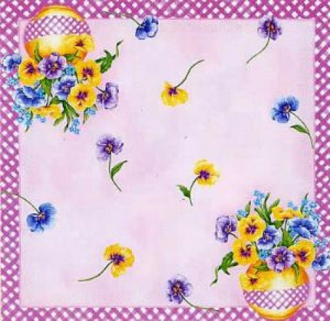 Serviette Pansy Bouquet