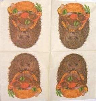 Serviette Hedgehog creme