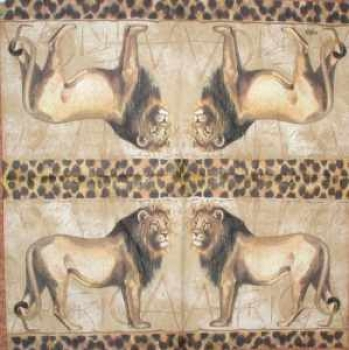 Serviette Lion creme
