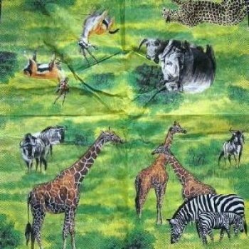 Serviette Wildlife green