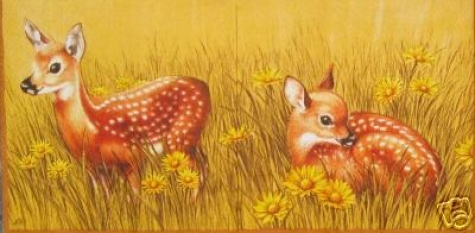 Serviette Fawn - yellow