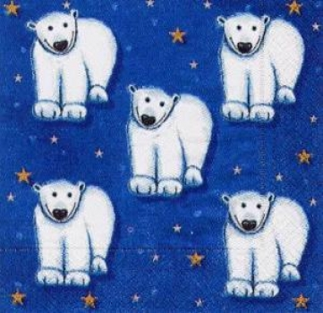Servietten Polar Bear - blue