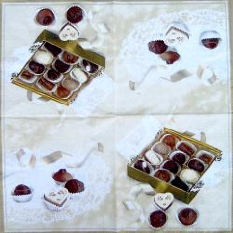 Servietten Chocolates cream