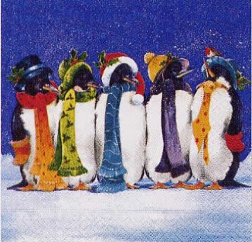 Servietten Penguins
