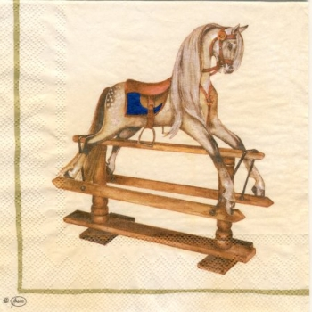 Serviette Rocking Horse