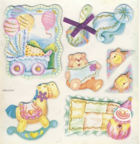 3-D Sticker / Embellishments <br> Babymotive 1, 8tlg.