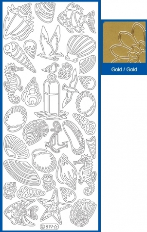 Sticker Maritim - 819 - gold