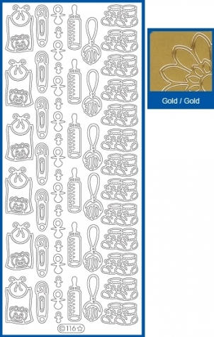 Sticker Babymotive - 116 - gold