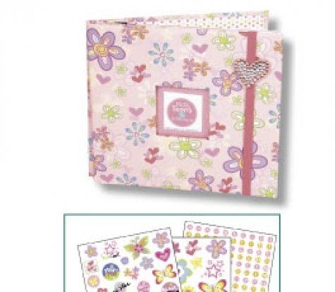 Scrapbook Album Kit 'Kids, Teens & In-Betweens'<br> 8''x8'' - 184tlg.