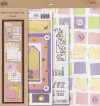 Scrapbook Kit Baby Girl <br> 16tlg.