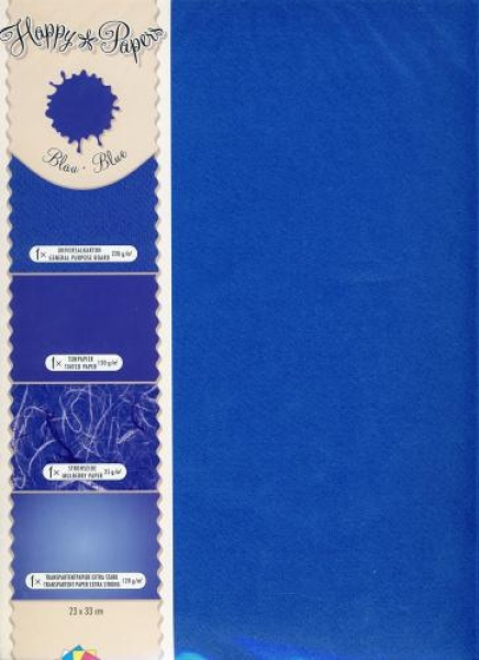 Happy Papers-Mix blau DIN A4