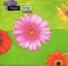 Serviette Colorful Gerbera green