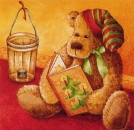 Servietten Teddy with book
