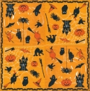 Serviette Trick or Treat orange