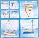 Servietten Sailboats blue